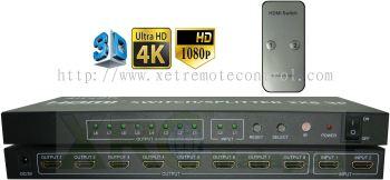 2 x 8 WAY HDMI SWITCH SPLITTER BOOSTER