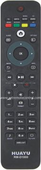 RM-D1000W PHILIPS LCD/LED TV REMOTE CONTROL