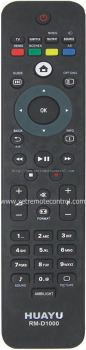 RM-D1000 PHILIPS LCD/LED TV REMOTE CONTROL