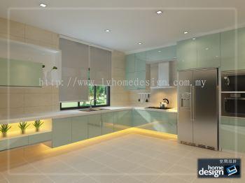 Kitchen 3D Design - Wet Kitchen