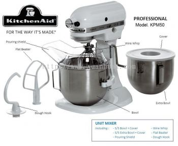 Kitchenaids Universal Flour Mixer KPM50 Heavy Duty (White)