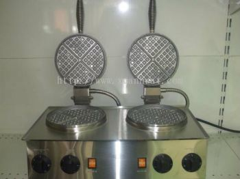Eagle Electric Waffle Machine 2 Pan (TWB-2) / Mesin Elektrik Waffle 2pan (TWB-2)
