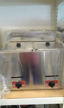 Gas Deep Fryer (Double) / Mesin Mengoreng Gas