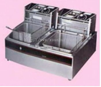 Electric Deep Fryer Double 8L / Mesin Mengoreng Elektrik 8L