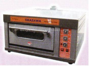 Okazawa Gas Oven 1 Deck 1 Tray / Okazawa Gas Ketuhar 1 Tingkat 1 Loyang (E1D1TN)