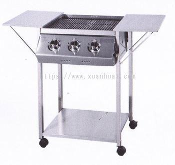 Burger Bakar Open Gas BBQ Grill / Ketuhar Pemanggang Terbuka Gas BBQ