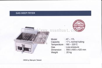AT-17 St. Steel Table Top Gas Deep Fryer