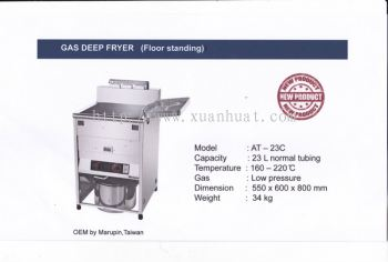 AT-23C St. Steel Free Standing Gas Deep Fryer