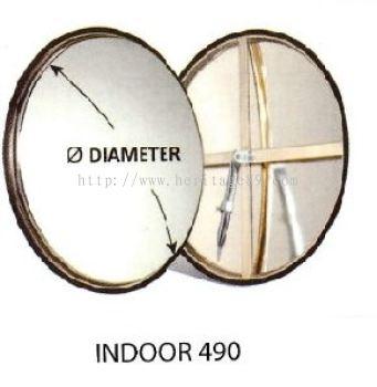STAINLESS STEEL INDOOR CONVEX MIRROR - 490MM