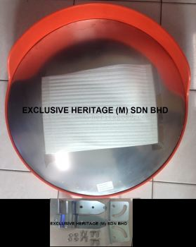 Outdoor Convex Mirror With Cap (Pole Mounted) - 600 mm