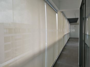 outdoor roller blind installation in JB and Singapore