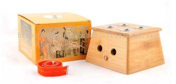 竹制四孔艾灸盒