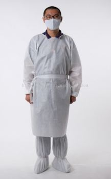 Disposable PPE Isolation Gown & boot cover set  ( Pack 10)
