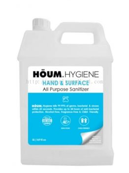 HOUM HYGIENE HAND & SURFACE All Purpose Sanitizer   Refill Size (5 Litres)