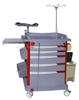 LIAISON MEDICAL MEGA SERIES Emergency Trolley Model  MN-EC010R-1 Table size��610*425*65mm