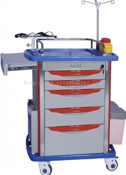 LIAISON MEDICAL CLIASSIC  Emergency Trolley  Model  MN-EC001 with 5 Drawers