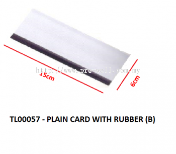 PLAIN CARD WITH RUBBER (B)