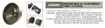 MERCEDEZ-BENZ OIL FILTER WRENCH (74MM X 14 FLUTES) - AI050085