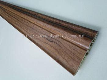 70mm PVC Skirting - Dark Maple ( PSK70-1023 )