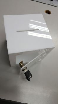 White acrylic box