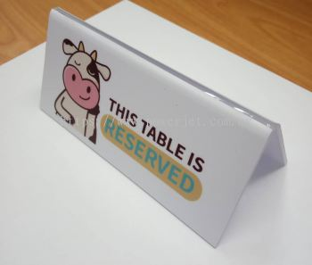 Acrylic Table Reserve Sign - Restaurant Cafe