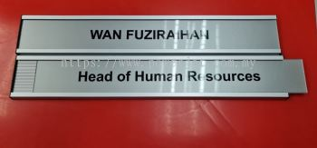 Slot Door Signage for Position and Name