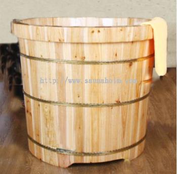 Rounded Wood Tub