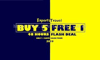 海外假期~5 送1 配套 ~ Flash Deals 48 小时~!