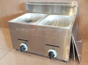 2-Tank 2-Basket Gas Fryer ID119141