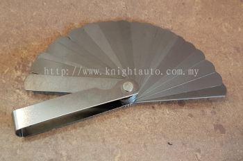 25pcs Blades Metric Feeler Gauge (0.04-1.00mm) ID449614