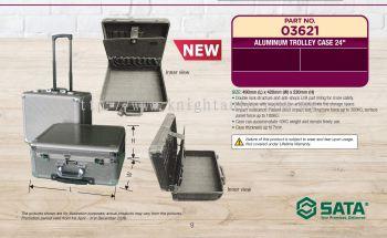 "SATA 03621 24"" Aluminum Trolley Case"