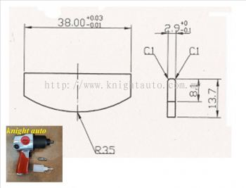 """1/2"""" Air Wrench Vane Packet (6pcs/Rm30) ID337193"""