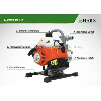 "Harz 40CC 1500W 1"" 8M HARZ HZ-6510-25 PETROL GASOLINE WATER PUMP"