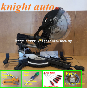 FreeGifts- Yato 255mm YT-82173 / YT-82173SB 1800W Sliding Mitre Saw with Laser Guide ID31752