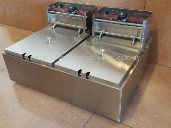 Electric Fryer 2 Tank 2 Basket  ID009140
