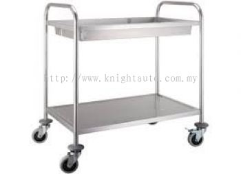 SQUARE TUBE CLEARING TROLLEY 2 TIER