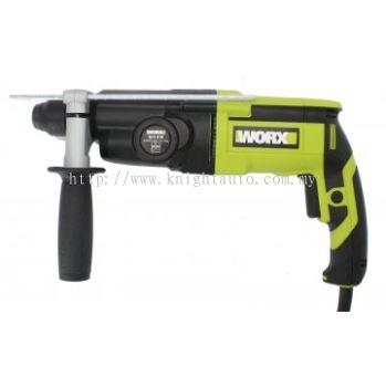 Worx WU340D 26mm 800w 3-Function Rotary Hammer FOC Duster