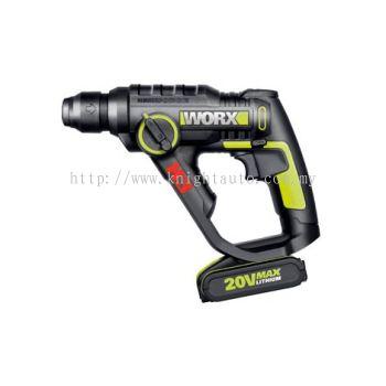 Worx WU390 20V MAX Lithium 3 in 1 Rotary Hammer