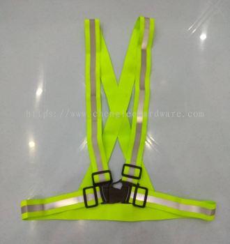 007717 007# GREEN REFLECTIVE SAFETY BELT - CLIP