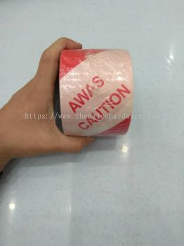 """003123 3""""   RED WHITE SAFETY TAPE ' AWAS '"""