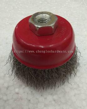 009930 M10 X 1.5  3 INCH STANDARD STEEL CUP BRUSH