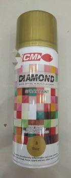 004393 ( 08-GOLD ) CM DIAMOND SPRAY PAINT