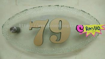 Glass Number Plate G04Y