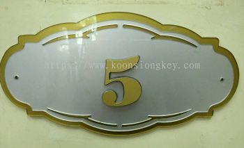 Fiber Number Plate ACP118SG
