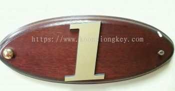 Wooden Number Plate P02