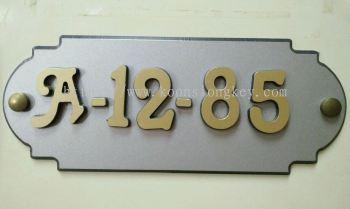 Aluminium Number Plate ACPL06