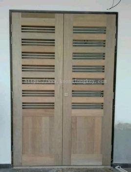 Wooden Holo Stainless Steel Door