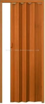 Pvc Folding Door Brown/Grey Wood