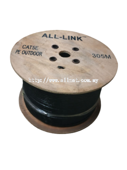 ALL-LINK CAT5E  4PAIR UTP PE OUTDOOR CABLE 300/500METER