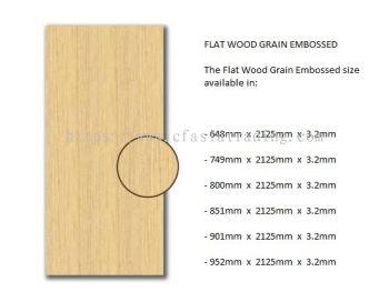 FLAT WOOD GRAIN EMBOSSED